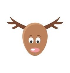 Deer cartoon sticker face mask for masquerade vector
