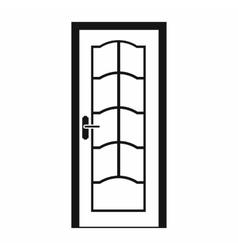 Door icon in simple style vector image