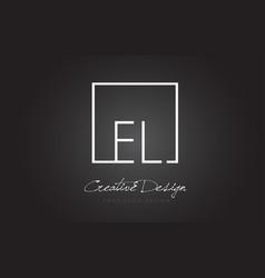 El square frame letter logo design with black and vector