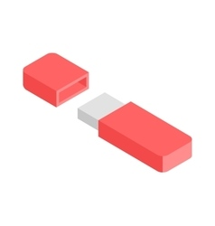 Flash Drive flat 3d isometric graphic vector