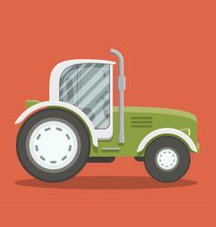 Flat farm tracktor vector