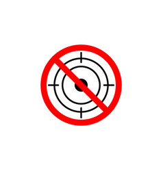 forbidden hunting icon on white background can be vector image