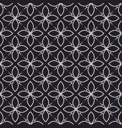Geometry flower dark seamless pattern vector
