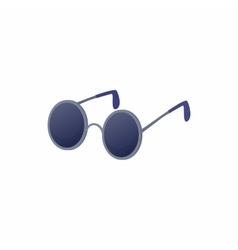 Glasses for blind icon cartoon style vector image