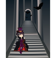 Gothic Stairs and Witch5 vector
