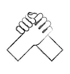 Hand shake isolated icon vector
