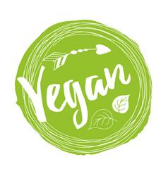 handwritten lettering sign vegan for vector image