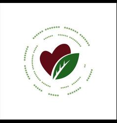 Healthy eating logo design silhoutte heart vector