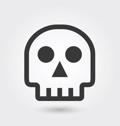icon skull medical icon line style for any vector image