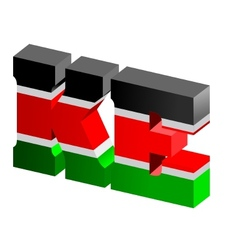 Internet top-level domain of kenya vector