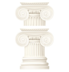 Ionic column drawing vector