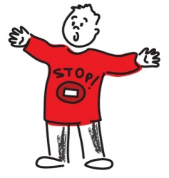 just stop it vector image