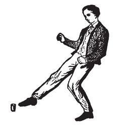 Kick vintage vector