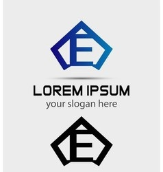Letter E logo icon design template vector image