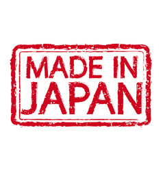 made in japan stamp text vector image