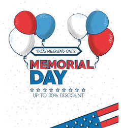 Memorial day sale poster vector