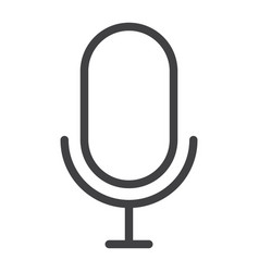 Microphone line icon web and mobile record sign vector