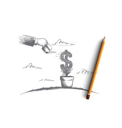 money making concept hand drawn isolated vector image