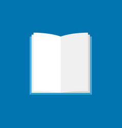 open book icon flat book with white pages vector image