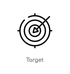 Outline target icon isolated black simple line vector