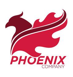 Phoenix bird or fantasy eagle logo template vector
