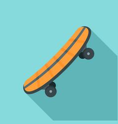 plastic skateboard icon flat style vector image