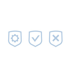 Privacy protection control icons vector