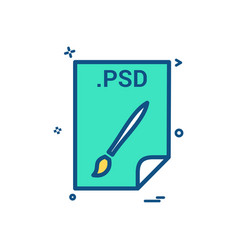 Psd application download file files format icon vector