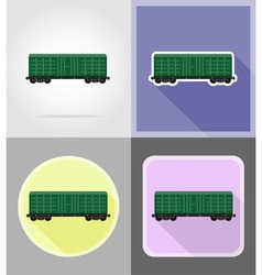 Railway transport flat icons 06 vector