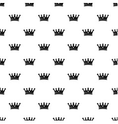 regal crown pattern seamless vector image