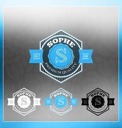 Retro Vintage Insignia Logotype Label or Badge vector