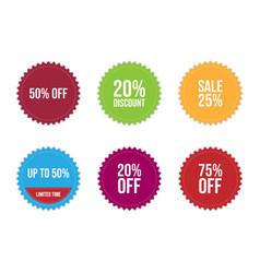 sale label icons set design image vector image