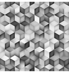 Seamless Greyscale Gradient Cube Shape vector image