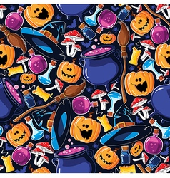 Seamless pattern Halloween vector image