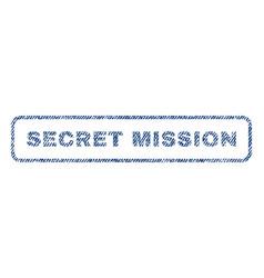Secret mission textile stamp vector