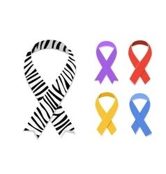 Set of awareness ribbon symbol vector