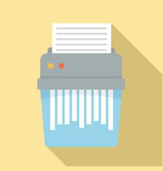 Shredder icon flat style vector