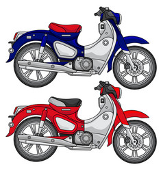 simple classic motorcycle vector image