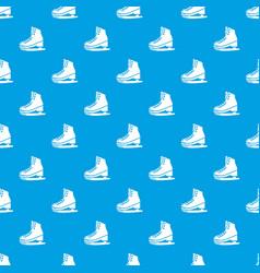 Skates pattern seamless blue vector