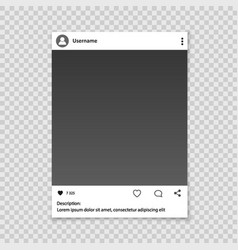 Social network photo frame vector