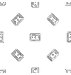 top soccer field pattern seamless vector image