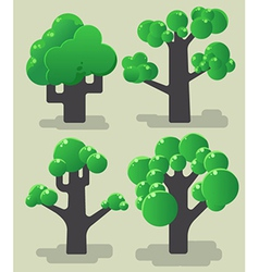 Tree modern collection vector image