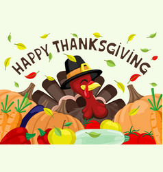 turkey and harvest vector image