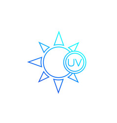 Uv rays protection icon line vector