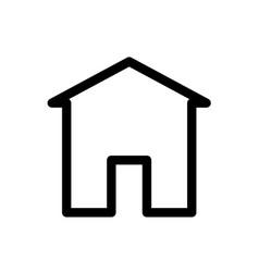 web home line icon vector image