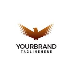 wing bird logo design concept template vector image