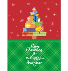 Christmas card vertical vector image vector image