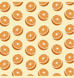 half orange fruit seamless pattern vector image vector image