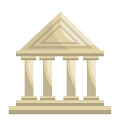 Bank building classic isolated icon vector image