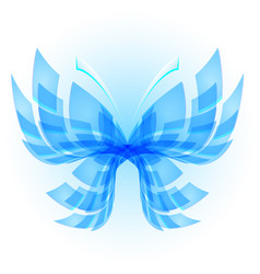 blue butterfly abstract on white background vector image vector image